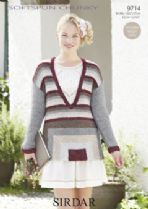 Sirdar Softspun Chunky - 9714 Jumper Knitting Pattern